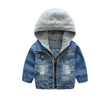 Liligirl 2019 Anak Laki-laki Kasual Jaket Denim untuk Bayi Perempuan Baju Atasan Mantel Anak-anak Berkerudung Biru Vintage Tahan Dr Jaket Jeans