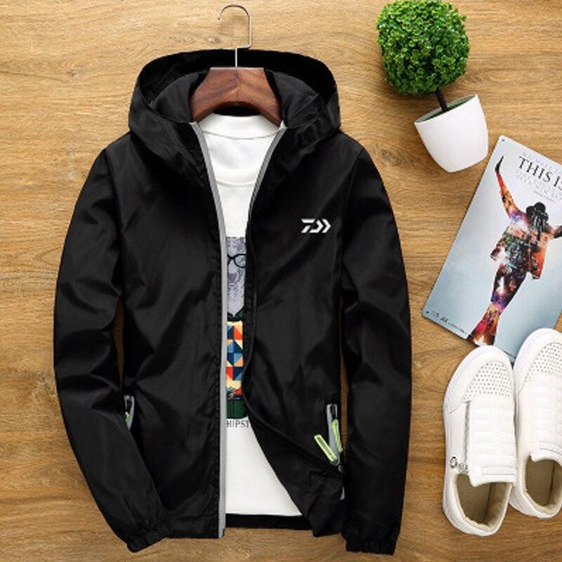 S-7XL Breathable Fishing Jacket Plus Size Couple Windbreaker Fishing Clothes for Hiking Camping Clothing Light Fishing Coat