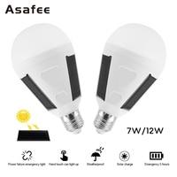 Asafee ソーラー Led 電球ランプ E27 7 ワット 12 ワット LED ソーラー緊急電球キャンプポータブルソーラー緊急電球屋内屋外