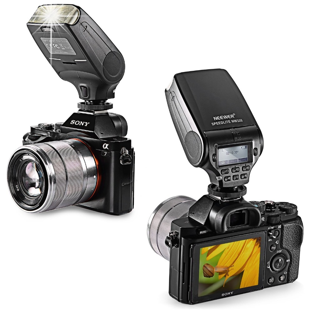 все цены на Neewer NW320 TTL LCD Display Flash Speedlite for Sony A7 A7S/A7SII A7RII A7II NEX6 RX1 RX1R RX10 RX100II HX50 A3000 A6000 A6300