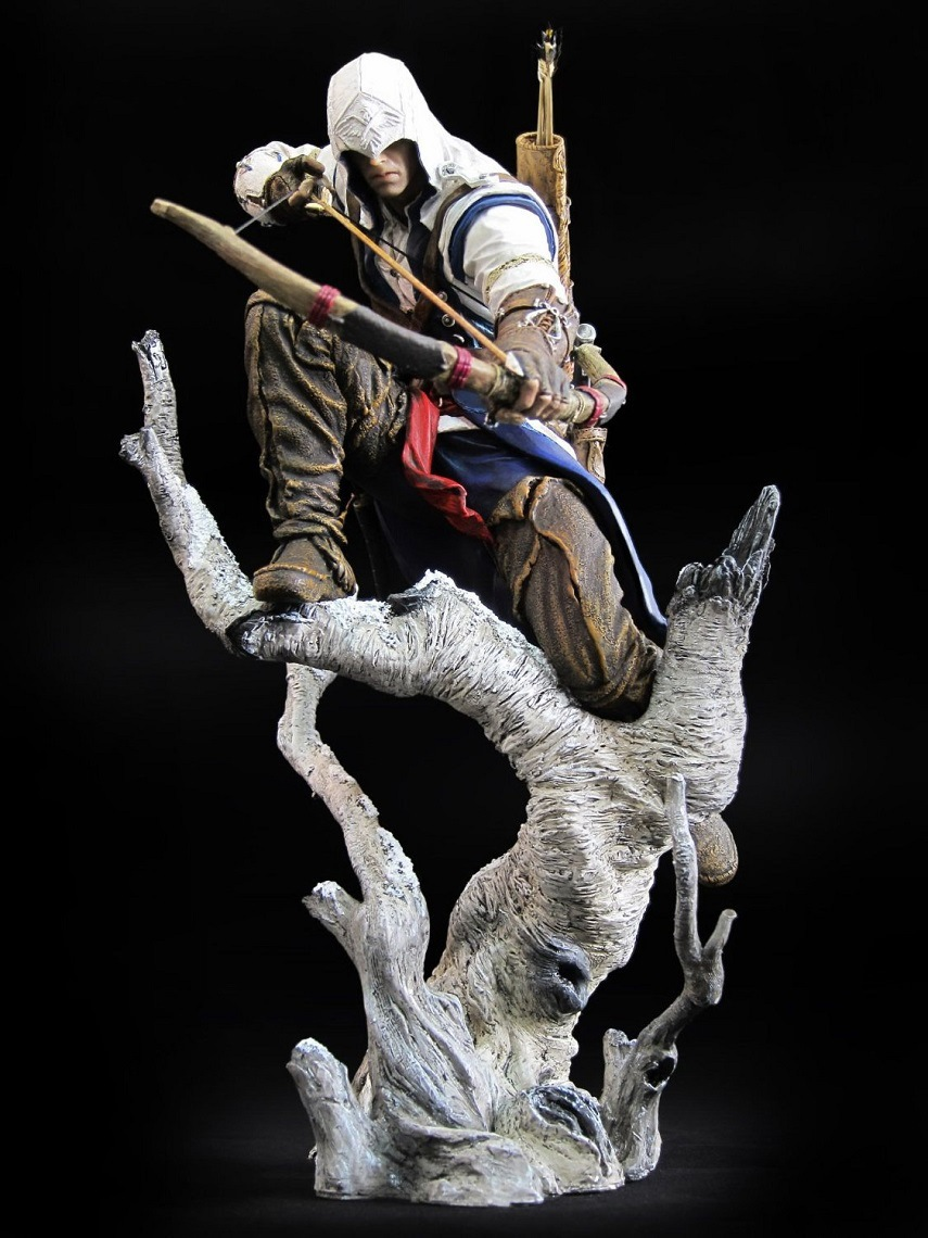 Connor The Hunter Figurine Classic Game Assassins Assassin's Creed 3 III PVC Action Figure Model Kids Toys Christmas Gift 26CM 24cm pvc deadpool action figure breaking the fourth wall scene dead pool kids birthday christmas model gift toys
