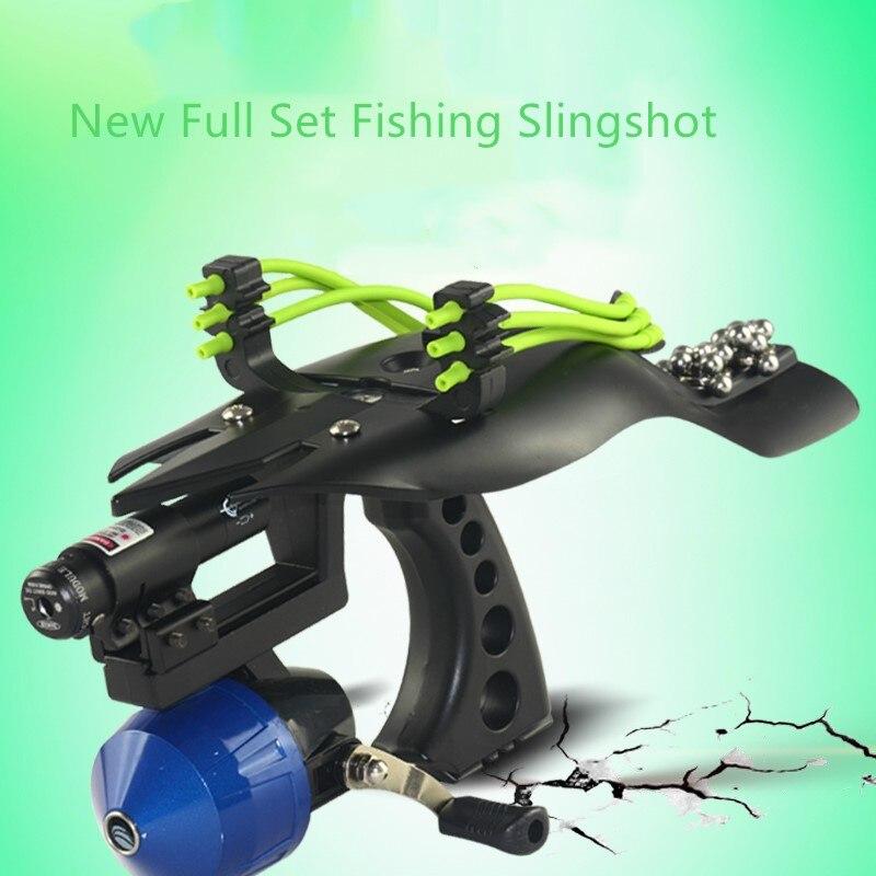 High Velocity Hunting Fishing Slingshot Shooting Catapult