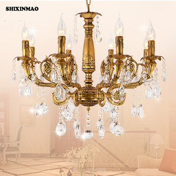 SHIXNIMAO free shipping Luxury plated copper crystal pendant crystal chandelier Crystal Chandelier