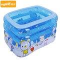 Bañera bebé piscina con bomba de regalo de dibujos animados colchón inflable pvc piscina rectangular 145*110*75 CM regalo de navidad