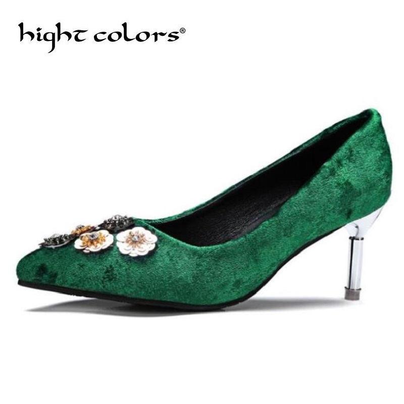 New Women Pumps Classic High Heels Shoes Fashion Suede Flock Purple Sexy Slim Pointed OL Office Singles Heeled Shoes 43 D56-3