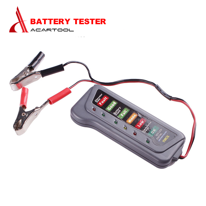 Electronic Tester Showing Failure Lights : Best v digital battery tester display car vehicle