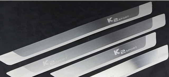 Ultrathin Stainless Steel  Decorative Thresholds Sportage  Pedal  Case for KIA  K2 Car  Accessories Styling Free Shipping