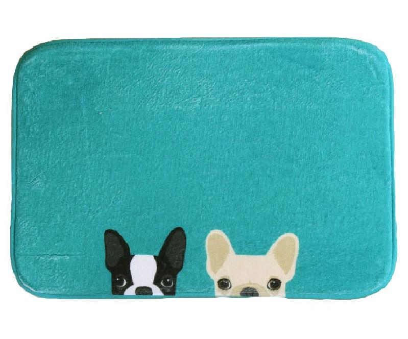 Funny Dog Mat Printing Rug Toilet Carpet Suede Non Slip Absorbent Shower Bathroom Mat Rugs tapete para banheiro Go Away Bath Mat