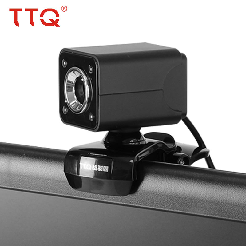 Купить с кэшбэком TTQ Original Webcams LED Light Webcam USB Microphone MIC For PC Laptop  Video Night Lights For Computer High Quality 640 * 480