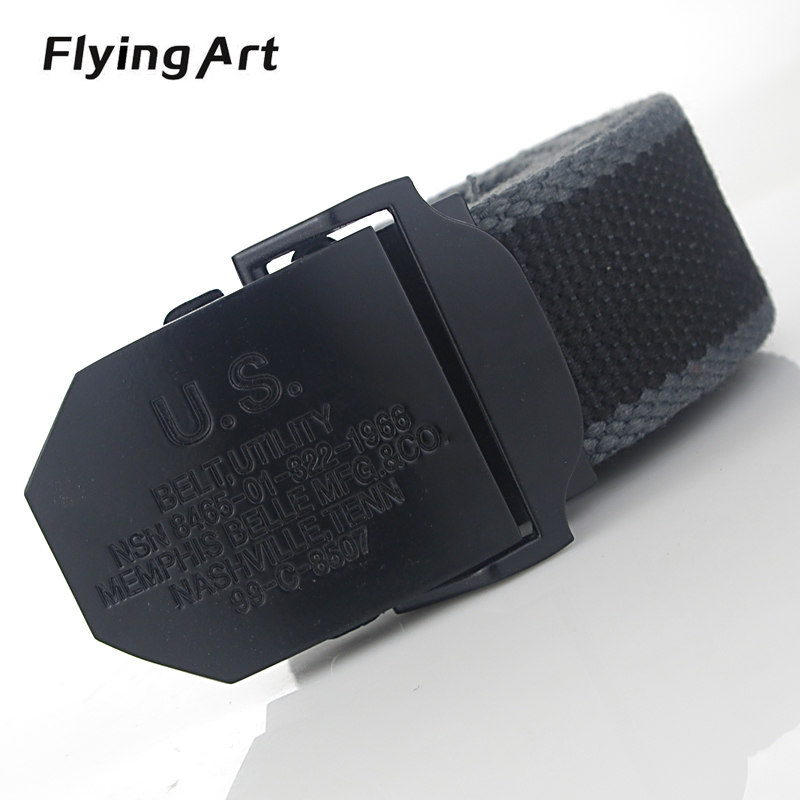 2016 Nyanländning Real Striped Adult Fashion Men Free Leather Belt Ultra Long 140 Canvas Belt Man Automatic Buckle Strap Stickad