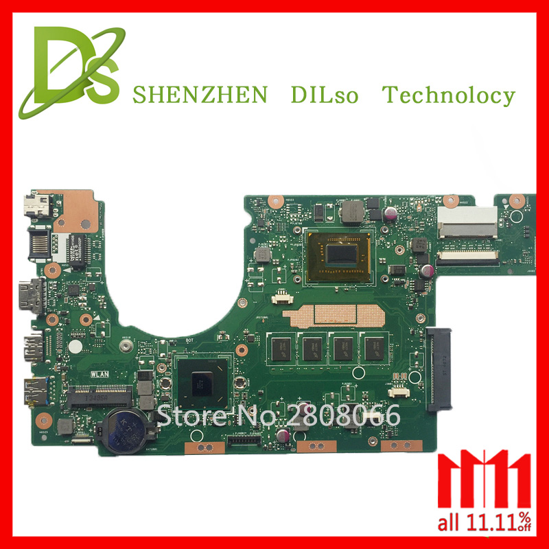 For ASUS S300CA Laptop motherboard S300CA mainboard REV2.1 Integrated i3 cpu onboard Test motherboard