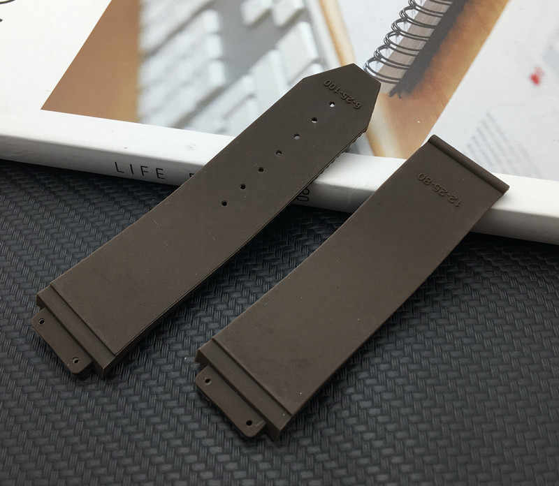 Natrue Silicone Rubber watch band 25*17mm For Hublot strap for BIG BANG authentic Watchband logo stainless buckle tools Orange