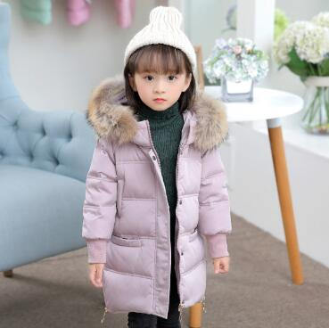 Children Down Jackets Russia Winter Jacket For Girls Warm Baby Thick Duck Down Parkas Kids Fur Collar Outerwear & Coats стоимость
