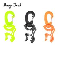 MagiDeal Outdoor 1Pc Scuba Diving Silicone Double BCD Hose Holder With Rotates & Folds Clip Buckle Hook Equipment 100 x 35mm