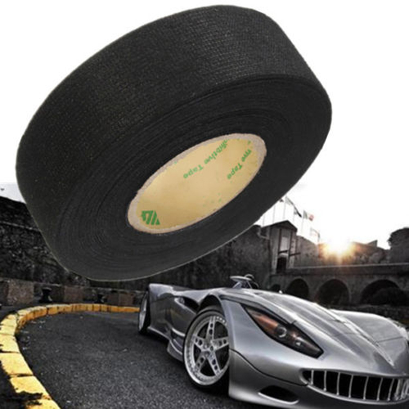 2017 New Black Flannel 15m Car Auto Wiring Harness Anti Rattle Self Adhesive Felt Tape aliexpress com buy 2017 new black flannel 15m car auto wiring black non-adhesive vinyl wiring harness tape at bayanpartner.co