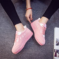 Casual Shoes Women Fashion PU Cross Straps Fitness Lady Travel Shoes Spring Factory Breathable Student New Girls Sneakers
