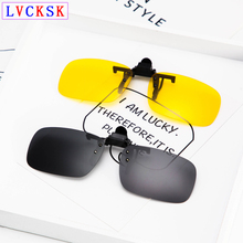 Unisex Myopia Clip On Sunglasses Men Women nearsighted Night Vision Glasses Driver Yellow Lens Polarized Black Gray Clip Lens A3 цены