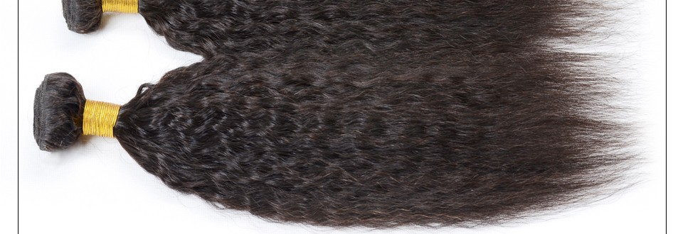 7A Grade Top Quality Malaysian Kinky Straight Virgin Hair 3Bundles Coarse Yaki Human hair Extensions light Yaki straight Hair