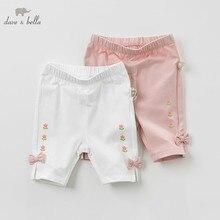 DBZ10428 dave bella yaz bebek kız giysileri bebek yürüyor şort çocuk butik pantolon