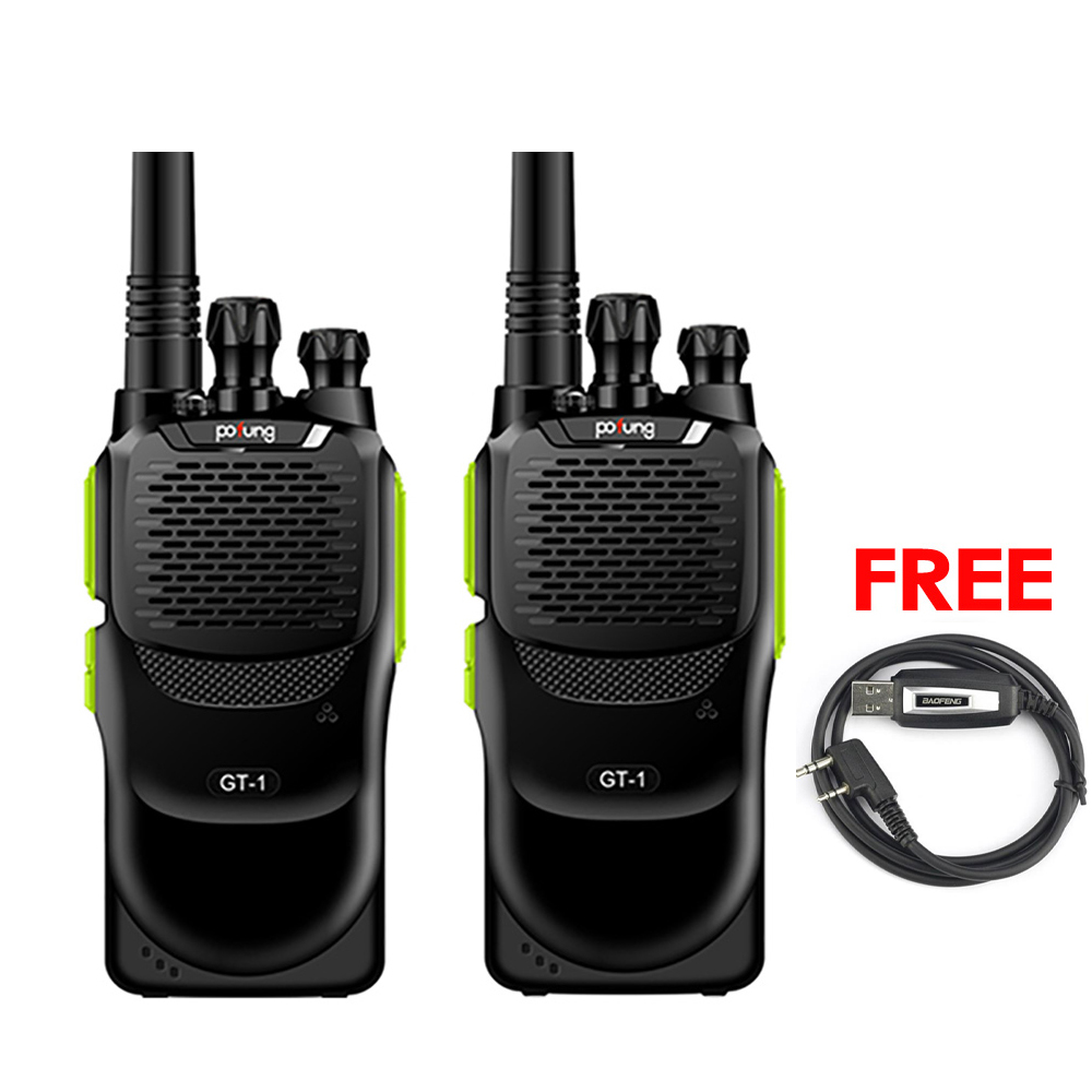 BIG SALE!!2 Pcs Baofeng/Pofung GT-1 UHF 70cm 400-470MHz 5W 16CH FM Ham Two-way Radio Portable Walkie Talkie Green