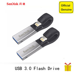 سانديسك USB 3.0 فلاش حملة 256 gb 128 GB 64 GB 32 GB 16 GB SDIX30N القلم محركات مزدوجة واجهة حملة القلم ل فون باد بود أبل