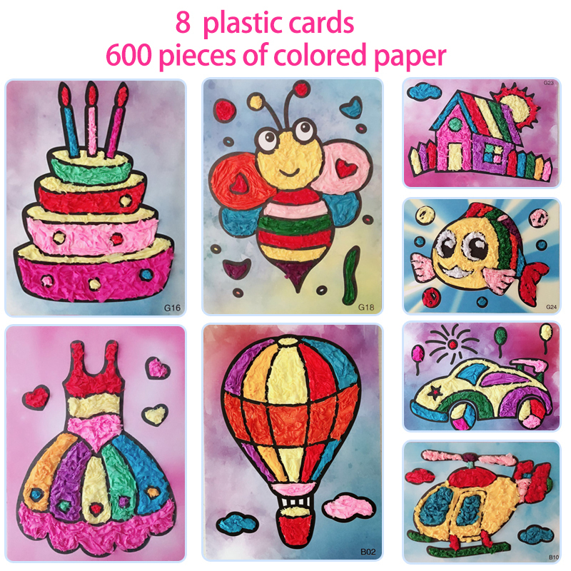 8pcs/set Diy Felt Paper Card Crafts Toys For Children Kids Kindergarten Handicraft Material Baby Girl Gift Arts And Craft New