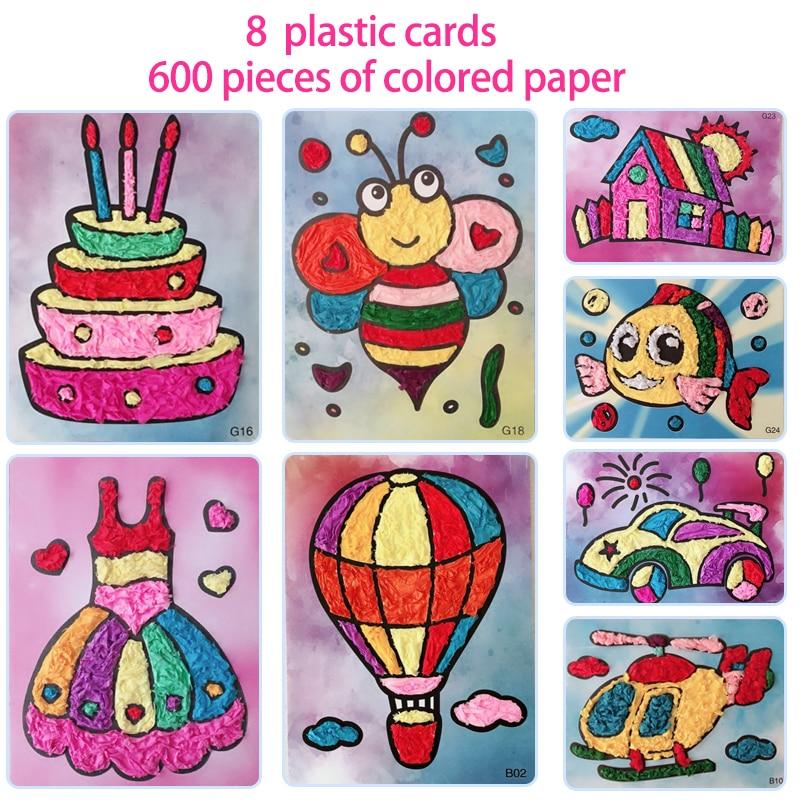 8pcs/set Diy Felt Paper Card Crafts Toys For Children Kids Kindergarten Handicraft Material Baby Girl Gift Arts And Craft New
