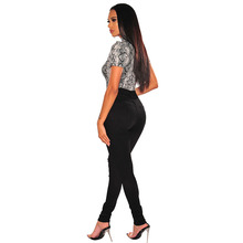 Sexy Snake Skin Grain Print Skinny Bodysuit Women Club Wear Body Tops Short Sleeve Bodysuits Rompers Jumpsuit Female