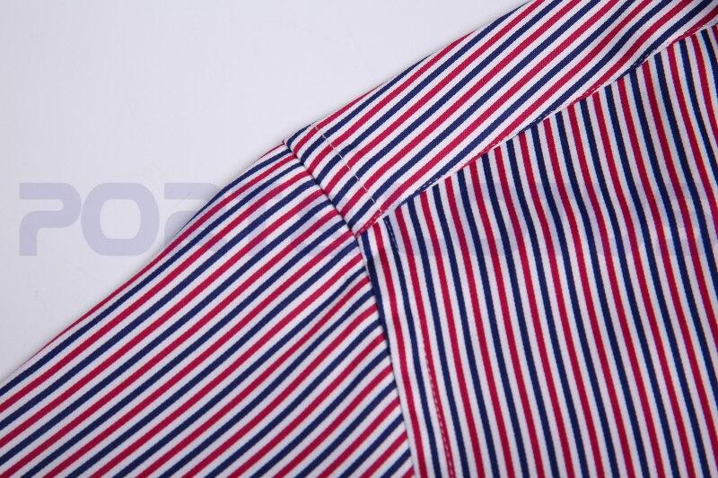 Online Shop Easy care Men Shirt,Blue Red White Stripe,Black Turn ...