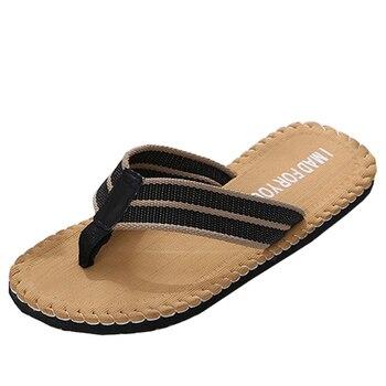 SIKETU Men Flip Flops Summer Beach Sandals Slippers for Men Flats High Top Non-slip Shoes Male Men Sandals Indoor&Outdoor A30
