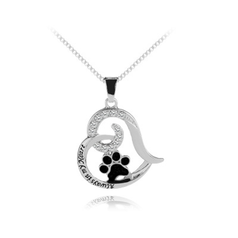 Always In My Heart New Pendant Leather Chain Necklace Jewelry For Couples Father Mothers Day