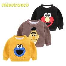 Baby Hoodies Sweatshirts sweater cashmere with thickened shirt winter wear long sleeved T-shirt dress coat of newborn children