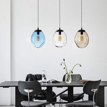 modern glass Drop ball Pendant Lights for living room dinning loft cafe shop Organic Contemporary Style Hanging fixtures