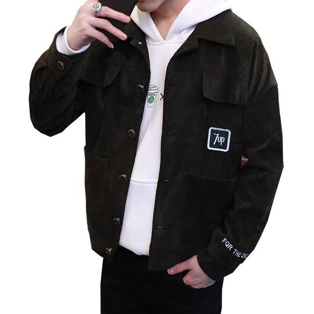 Grandwish hombres capa de la chaqueta masculina chaqueta de primavera carta bordado sólido de un solo pecho chaquetas de franela hombres, PA953