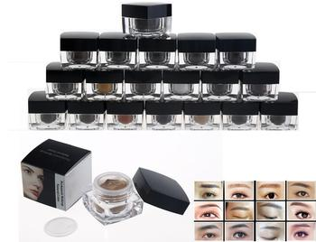20pcs/lot Import Mixed Color Eyebrow Permanent Makeup Tattoo Pigment Kit Cosmetic Manual Eyebrow Tattoo Ink Paste 20G