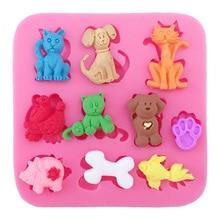 Lovely Pig Dog Bones Goldfish Cake Silicone Mold Lace Mat Fondant Tools Decorating Stencil DOY