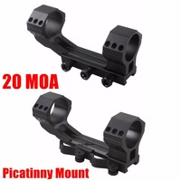 Vector Optics Tactical 20 MOA 35mm One Piece Scope Picatinny Mount with Quick Release or Bolt Screws 21mm Base Dual Rings