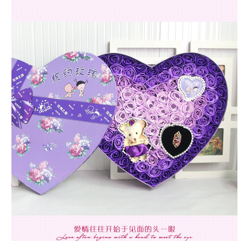 ФОТО Hot sale low price teddy bear Roses Mix Colors Heart-Shaped Rose Soap Flower  Valentine's Day and Mother'sday gift free shipping