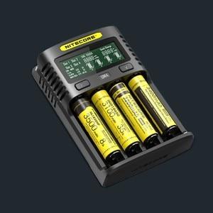 Image 3 - NITECORE UM4 UM2 C4 VC4 LCD Smart Battery Charger for Li ion/IMR/INR/ICR/LiFePO4 18650 14500 26650 AA 3.7 1.2V 1.5V Batteries D4