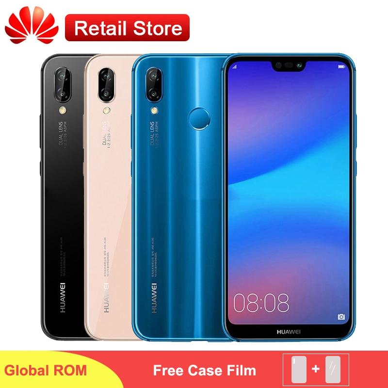 グローバル Rom Huawei 社 P20 Lite ノヴァ 3e スマートフォン 5.84 ''キリン 659 オクタコアの Android 8.0 デュアルカメラ 3000mAh 指紋フェイスアンロック  グループ上の 携帯電話 & 電気通信 からの 携帯電話 の中 1