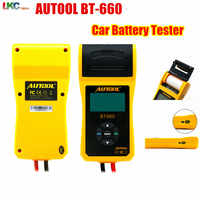 2019 AUTOOL BT660 Battery Tester BT-660 Car battery tester BT 660 tester Built-in Thermal Printer With Multi-Language