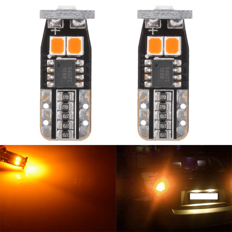 2x Super Bright T10 W5W Led Bulbs For Cars 168 194 Car LED Auto Clearance Door Reading License Plate Lamp Bulb Amber Orange T15 2x car led w5w t10 194 clearance light for lada granta vaz kalina priora niva samara 2 2110 largus 2109 2107 2106 4x4 2114 2112
