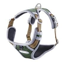 Dog Harness Adjustable No-Pull Reflective Nylon Dog Leash Chest Strap Vest Padded for Medium Large Dogs Pet Dog Training Vest adjustable nylon strap leash for pet dog green