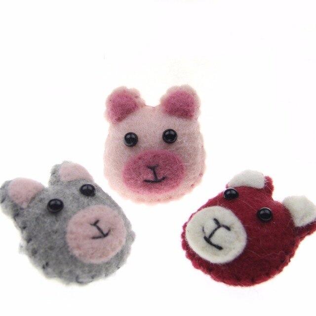 5 unids lana hecho a mano Fieltro Costura oso peluche lleno oso ...