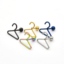 1Pcs Stainless Steel Fashion Women Men Hanger Ear Stud High Quality Durable Earring Accessory Bone Nail Nose Jewelry