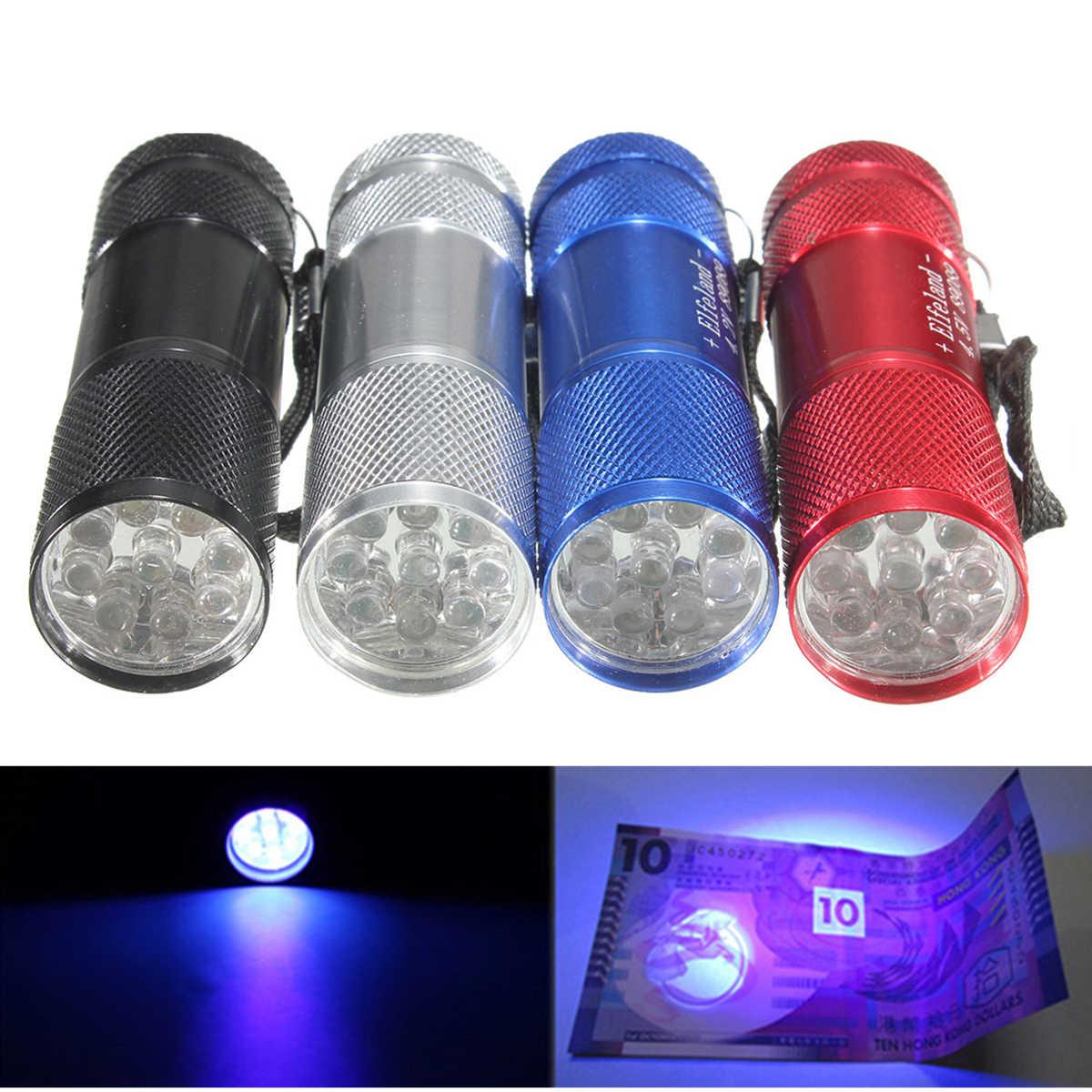 aaa For Ultraviolet Marker Blacklight Uv 395nm Torch Lamp 3 Use Light Detection 9 Elfeland Led Flashlight TJlK1cF3