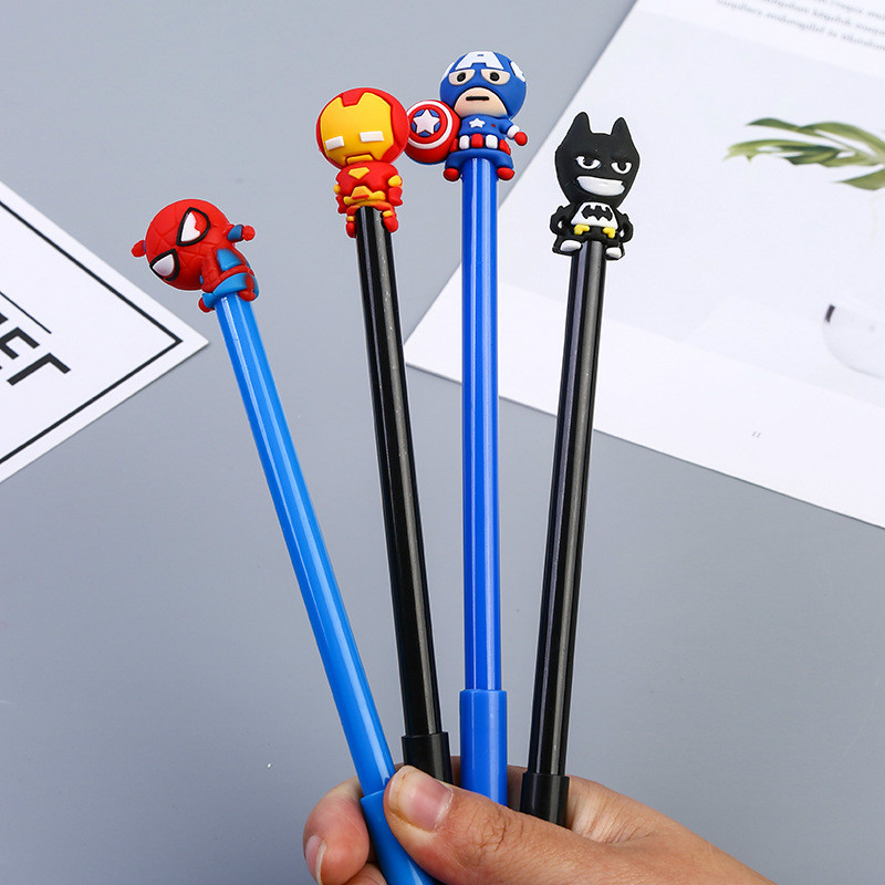 40 PCs Creative Cartoon Hero Neutral Pen Student Gift Bat Shape Signature Pen Wholesale