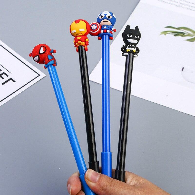40 шт. креативная нейтральная ручка с героями мультфильмов, Студенческая подарочная ручка в форме летучей мыши, оптовая продажа-in Гелевые ручки from Офисные и школьные принадлежности