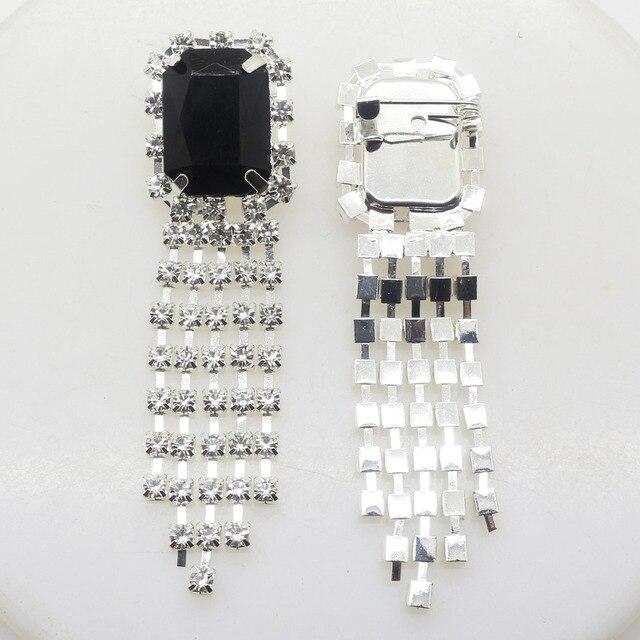ZMASEY nowy 20*70 MM 5 sztuk/partia broszka przyciski diamentowe dla DIY Ornament akcesoria ręczne fabryki Mix kolor dżetów