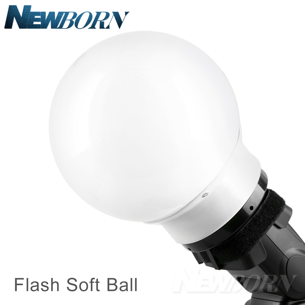 5.9'/15cm Universal Flash Soft Ball Diffuser Ball for Canon Nikon Yongnuo Neewer Godox flash Speedlite V860II V850II TT685 universal soft screen pop up flash diffuser for nikon canon pentax olympus camera soft diffuser plastic diffuser softer 10d 20d